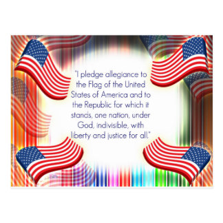 American Pledge Postcard