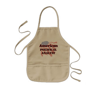 American Political Analyst Kids Apron