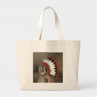 American Portrait Large Tote Bag