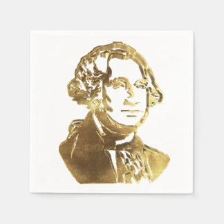 American President George Washington Golden Chic Disposable Napkin