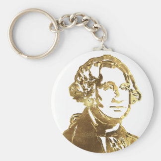 American President George Washington Portrait Gold Keychain
