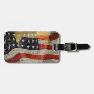 American president luggage tag