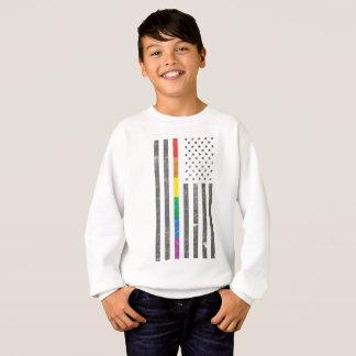 American Pride Flag Boy's Sweatshirt