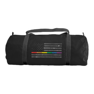 American Pride Flag Dark Duffel Bag