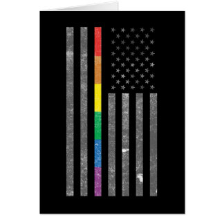 American Pride Flag Dark Greeting Card