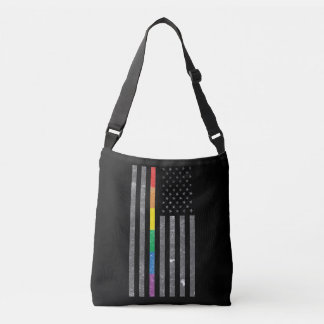 American Pride Flag Dark Sling Bag