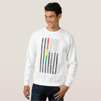 American Pride Flag Men's Basic Sweatshirt