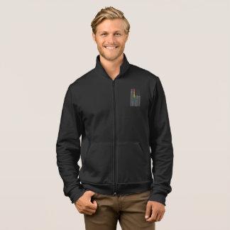 American Pride Flag Men's Dark Fleece Zip Jacket