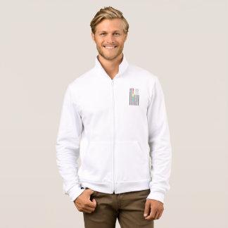 American Pride Flag Men's Fleece Zip Jacket