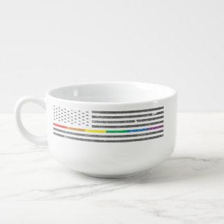 American Pride Flag Soup Mug