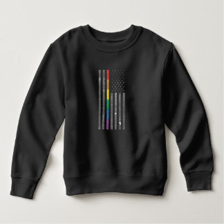American Pride Flag Toddler Dark Sweatshirt