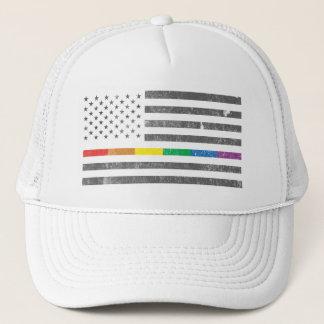 American Pride Flag Trucker Hat