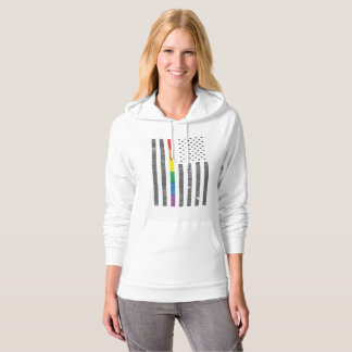American Pride Flag Women's Fleece Hoodie