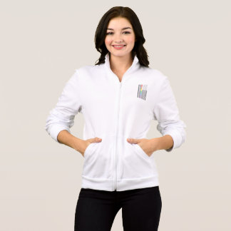 American Pride Flag Women's Fleece Zip Jog Jacket