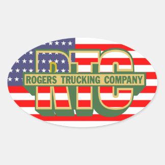 American Pride Rogers Trucking Company Oval Sticker