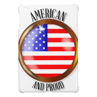 American Proud Flag Button Case For The iPad Mini