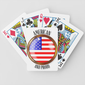 American Proud Flag Button Poker Deck