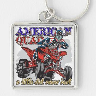 American Quad Keychain