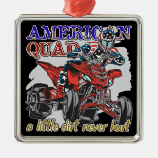 American Quad Metal Ornament
