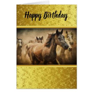 American Quarter Horse with a gold foil design Card