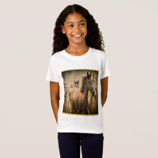 American Quarter Horse with a gold foil design T-Shirt