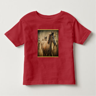 American Quarter Horse with a gold foil design Toddler T-shirt