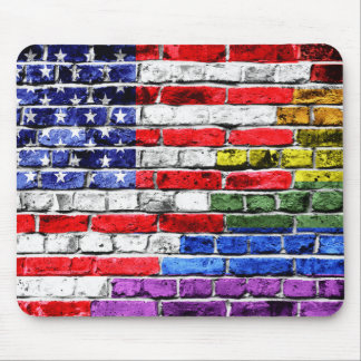 American Rainbow Flag Mouse Pad