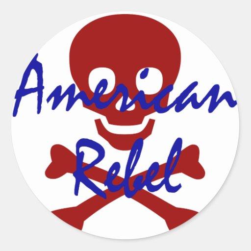 American Rebel Round Sticker