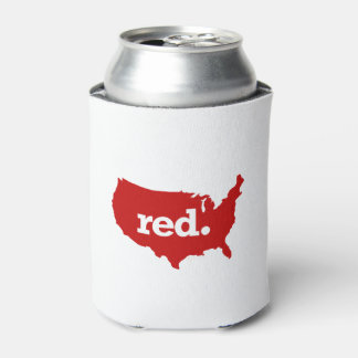 AMERICAN RED STATE CAN COOLER