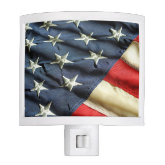 American Red White & Blue Flag Nite Lights