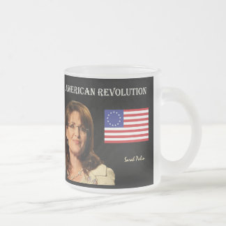 American Revolution Frosted Glass Coffee Mug