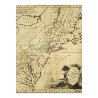 American Revolution Map by Thomas Conder (c 1780) Card