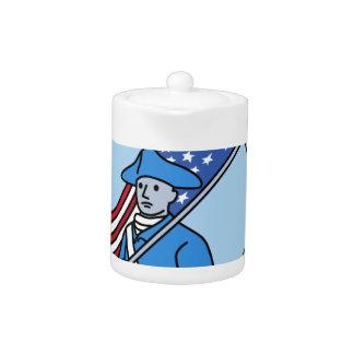 American Revolutionary Soldier Flag Circle Mono Li