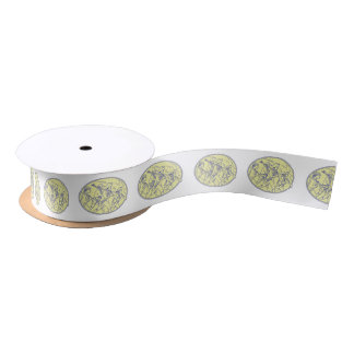 American Revolutionary Soldiers Marching Oval Mono Satin Ribbon