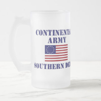 American Revolutionary War Continental Army Glass Frosted Glass Mug