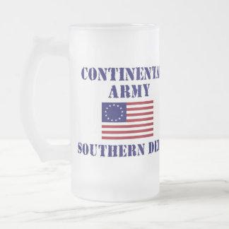 American Revolutionary War Continental Army Glass Coffee Mugs