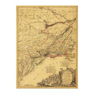 American Revolutionary War Map by J.B Eliot (1781) Canvas Print