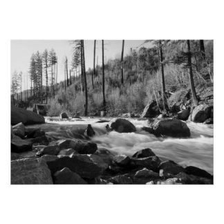 """American River"", Black & White Posters"
