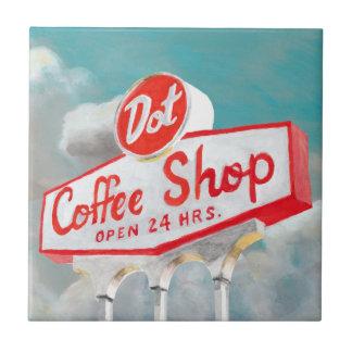 American Roadside | Coffee Shop Sign Tile