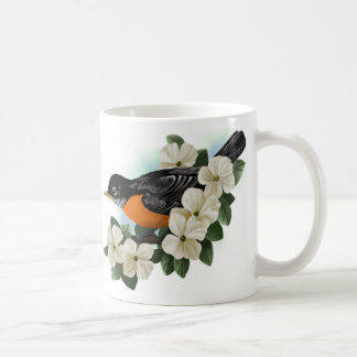 American Robin and Dogwood Flower Mug