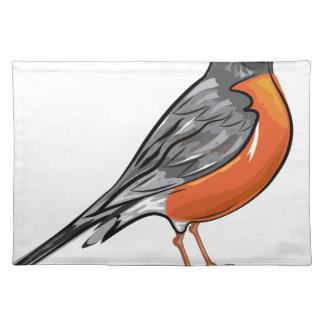 American Robin bird Vector illustration Place Mats