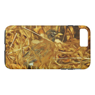 American Robin Hunting Abstract Impressionism iPhone 7 Plus Case
