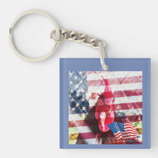 American Rooster Key Chain