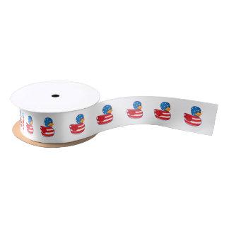"American Rubber Ducky 1.5"" Satin Ribbon"
