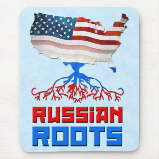 American Russian Roots Mousemat Mouse Pad