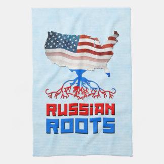 American Russian Roots Tea Towels