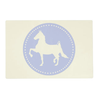 American Saddlebred horse silhouette Laminated Place Mat