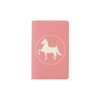 American Saddlebred Horse Silhouette Pocket Moleskine Notebook