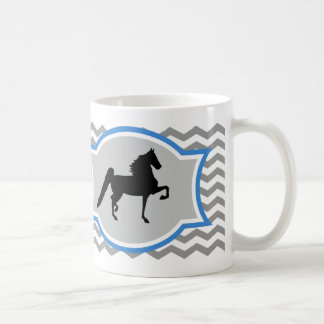 American Saddlebred Mug - Grey and Blue