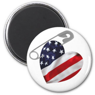 American Safety Pin 2 Inch Round Magnet